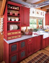kitchen colors with wood cabinets kitchen stunning cottage kitchen with bright interior also red
