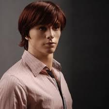 Best Hair Color For Men Man U0027s Wig Burgundy Short Straight Hair Wig Smart Business