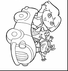 incredible painting dora coloring pages with dora the explorer