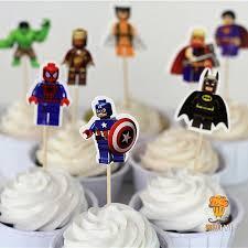 iron cake topper 96pcs lego the superman batman iron cake toppers