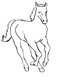 horse coloring pages to print cute baby horse coloring pages