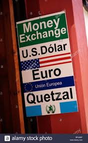 sign for a exchange or bureau de change in san cristobal de