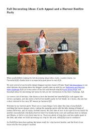 fall decorating ideas curb appeal and a harvest bonfire party