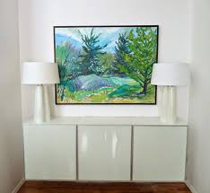 Ikea Paintings by Diy Plywood Topped Ikea Hack Floating Credenza Dans Le Lakehouse