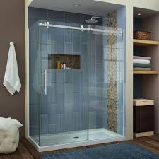 basco rolaire 47 in x 76 in semi framed sliding shower door and