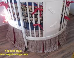 Dodger Crib Bedding by Baby Boy Crib Set With A Baseball Theme Custom Round Crib