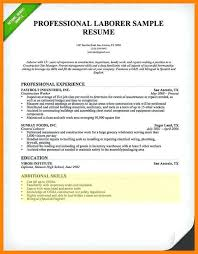 General Laborer Resume Sample Resume Objectives General Labourer Eliolera Com