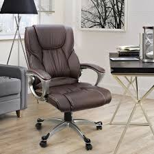 Office Desk With Chair by Amazon Com Office Chair With Pu Leather Back Support Big U0026tall