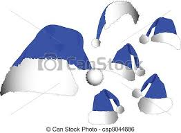 blue santa hat the vector blue santa hat set clip vector search drawings