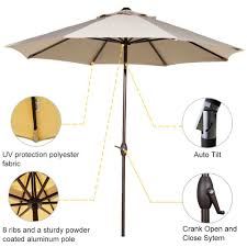 Umbrella Tilt Mechanism Parts by Amazon Com Abba Patio Sunbrella Patio Umbrella 9 Feet Outdoor