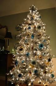 baby blue tree blue white ornaments and