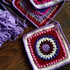 Beautiful Purple Motifs Continuous Flat Braid Join Tutorial U2013 Cypress Textiles
