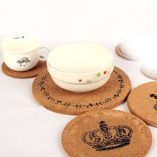 cork coasters 2 pcs cork coasters cup cushion holder drink cup place mat