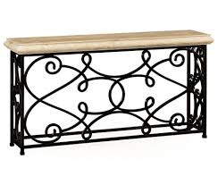 Discount Wrought Iron Patio Furniture by Furniture Rectangular Wrought Iron Console Table Design Stylish