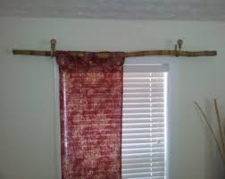 Chunky Wooden Curtain Poles Curtain Rod Etsy