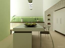 minimalist kitchen with dining island interior design ideas