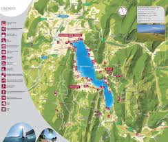 France On Map by Tourist Map Of Lake Annecy