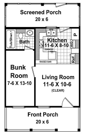 cottage style house plan 1 beds 1 baths 400 sq ft plan 21 205