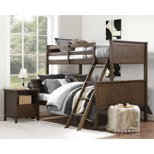 Kids Bunk Beds Twin Over Full by Dorel Living Dorel Living Maxton Twin Over Full Bunk Bed Mocha