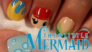 little mermaid nail art youtube little mermaid nail designs biz
