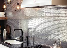 Popular Metal Tile Backsplash  The Homy Design - Metal kitchen backsplash
