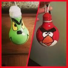 angry birds ornaments light bulb inspiration navidad