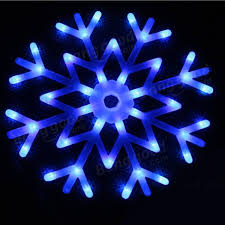 40 led colorful snowflake lights string curtain light