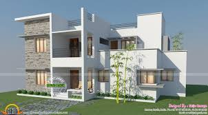 contemporary style kerala home design contemporary house plans flat roof