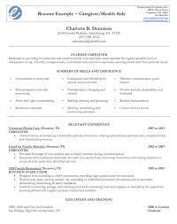 Sample Resume For Caregiver by Sample Resume Caregiver Resumedoc