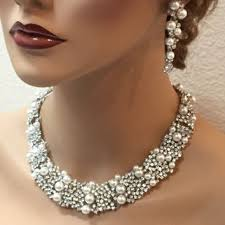 rhinestone necklace wedding images Bridal jewelry set bridal necklace from linq la jpg