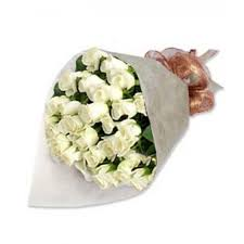 White Rose Bouquet Online Flower Shop Delivery In Salapan San Juan City Philippines