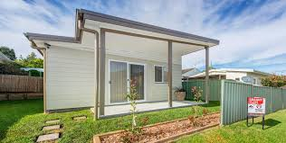 furnished granny flat display home opens on saturday backyard
