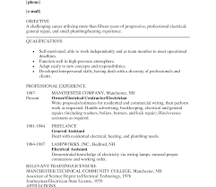 sle resume format for freelancers for hire resume industrial electrician sle exles apprentice dreaded