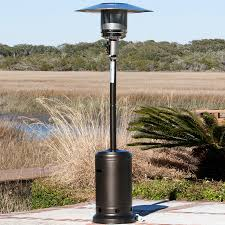patio heaters rentals shop fire sense 46 000 btu mocha steel liquid propane patio heater