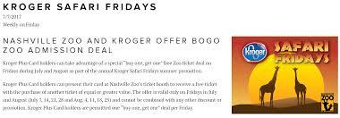 nashville zoo u0026 kroger offer bogo admission deal