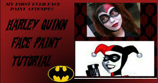 harley quinn face paint tutorial youtube