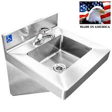 stainless steel hand sink ada compliant wash up hand sink single faucet lavabo stainless steel