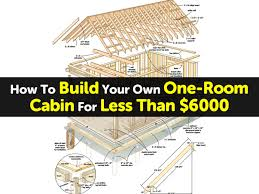 build your own one room cabin for less than 6000