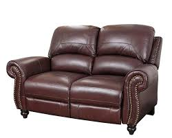 Best Leather Recliner Sofa Reviews Abbyson Durham Leather Pushback Reclining Loveseat