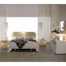 Diamond Furniture Bedroom Sets by Rossetto Diamond Platform Bed 4 Piece Bedroom Set In Ivory