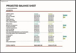 Pro Forma Balance Sheet Template Projected Balance Sheet Template Excel Templatezet