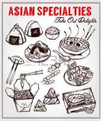international food set for menu international world food vector