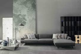 slab sofa with chaise longue by bonaldo design mauro lipparini