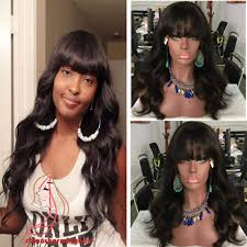 body wave hair with bangs bang hair wig zenzc com cheap gown dresses wedding dresses