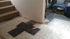 laundry flooring for uneven floor