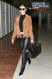 Leather And Lace Clothing Mixed Media Miranda Kerr U0027s Leather And Suede Look For Less The