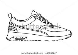 8 cool shoes vector icon sketch stock vector 453564058 shutterstock