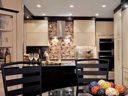 faux plafond design cuisine design interieur idée déco cuisine crédence colorée faux plafond