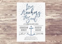 Love Anchors The Soulnautical Anchor - love anchors the soul couples shower party invitation nautical