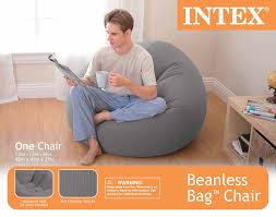grey bean bag chair intex cushion seat walmart com
